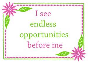 affirmation-see endless opportunities