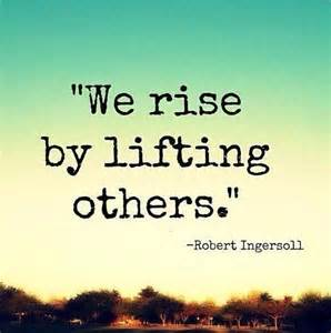 uplifting others