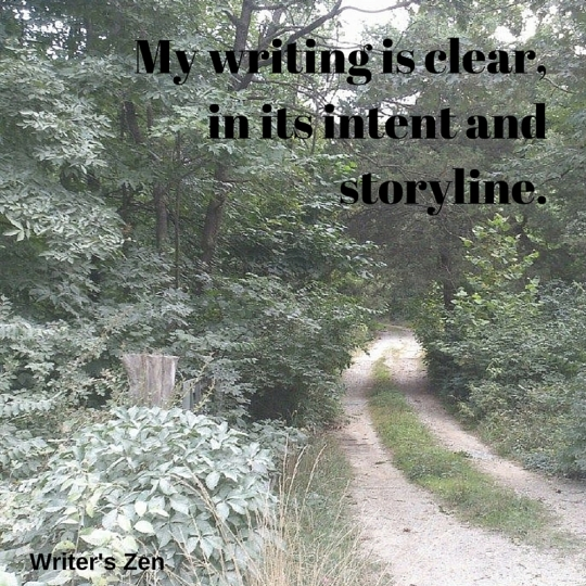 My writing is clear, in its intent and storyline..jpg