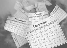 calendar flying by